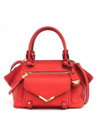 Jessica Simpson | Red Bailey Faux Leather Satchel Bag | Lyst