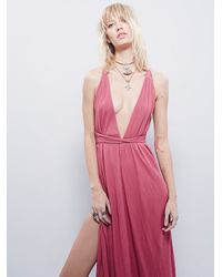 Free People - Pink All The Moves Convertible Dress - Lyst