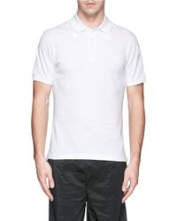 Givenchy - White Star Appliqué Polo Shirt for Men - Lyst