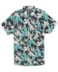 Rip Curl | Blue Ripcurl Short-sleeve Ventura Floral Shirt for Men | Lyst