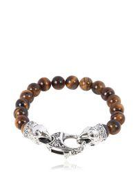 Stephen Webster | Brown Raven Head Tiger Eye Bracelet | Lyst