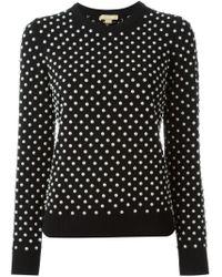 Michael Kors - Black Pearl Embellished Sweater - Lyst