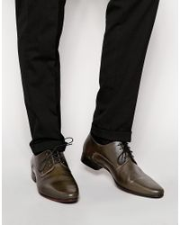 ASOS - Gray Derby Shoes In Leather for Men - Lyst