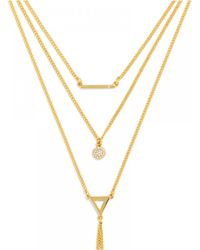 BaubleBar | Metallic Facets Layered Necklace | Lyst