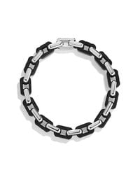 David Yurman - Black Modern Cable Empire Link Bracelet for Men - Lyst