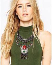 ASOS | Metallic Traveller Statement Necklace | Lyst