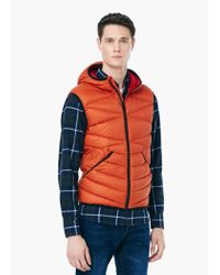 Mango | Brown Quilted Feather Gilet for Men | Lyst