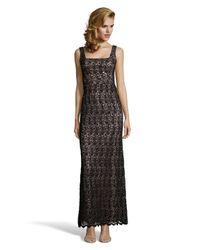 JILL Jill Stuart - Black Woven Crochet Lace 'venise' Gown - Lyst
