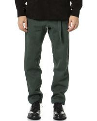 Fanmail - Green Denim Gusset Pants for Men - Lyst