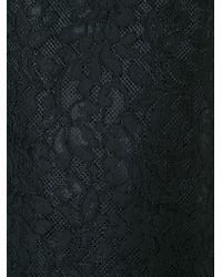 Amen - Black Lace Back Zip Dress - Lyst