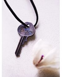 Free People - Black The Giving Keys Womens Giving Keys Necklace - Lyst