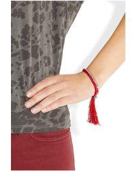 Alyssa Norton - Red Diamantã and Braided Silk Friendship Bracelet - Lyst