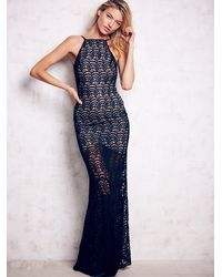 Free People - Black Stone Cold Fox Womens Logan Gown - Lyst