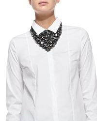 Brunello Cucinelli | Gray Swarovski® Crystal Bib Necklace | Lyst