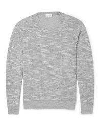 Club Monaco | Gray Slubbed Cotton-Blend Jersey Sweatshirt for Men | Lyst