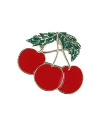 TOPSHOP | Red Cherry Brooch | Lyst