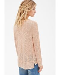 Forever 21 - Natural Slub Knit Sweater - Lyst
