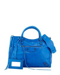 Balenciaga - Blue Classic Velo Shoulder Bag - Lyst