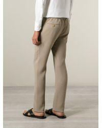 Giorgio Armani - Natural 'Tokyo' Pique Trousers for Men - Lyst