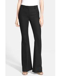 Theory - Black 'Jotsna' Stretch Wool Flare Pants - Lyst