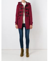 Burberry Brit - Multicolor Hooded Duffle Coat - Lyst