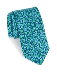 Ted Baker | Blue 'kensington Floral' Silk Tie for Men | Lyst