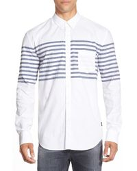 Barney Cools | White Long Sleeve Dobby Sport Shirt for Men | Lyst