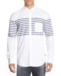 Barney Cools - White Long Sleeve Dobby Sport Shirt for Men - Lyst