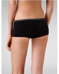 Calvin Klein - Black Underwear Seamless Hipster - Lyst