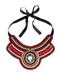 H&M | Red Beaded Necklace | Lyst