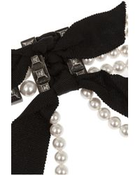 Lanvin | White Faux Pearl And Crystal Choker | Lyst