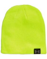 Under Armour | Yellow Ua Basic Knit Beanie for Men | Lyst