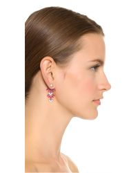 Noir Jewelry | Clarence Chandelier Ear Jackets - Red/clear | Lyst
