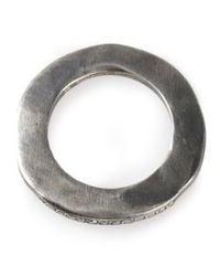 Rosa Maria - Metallic Flat Band Ring - Lyst