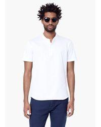 Mango - White Mao Collar Cotton T-shirt for Men - Lyst
