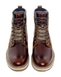 Timberland | Brown Men's Britton Hill Leather & Tweed Boots for Men | Lyst