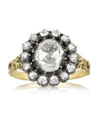 Olivia Collings - Metallic 1860S 18-Karat Gold Diamond Ring - Lyst