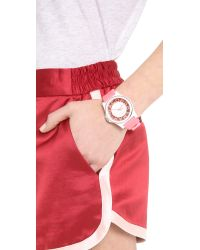 Marc By Marc Jacobs - Pink Henry Skeleton Silicone Watch - Lyst