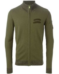 DIESEL - Green Zip Cardigan for Men - Lyst