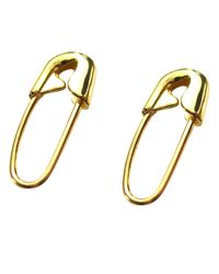 Tom Binns - Metallic Real Deal Safety Pin Earrings - Lyst