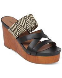 Lucky Brand | Black Nyloh Platform Wedge Sandals | Lyst