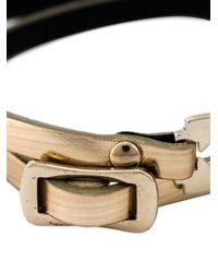 McQ | Metallic Razor Blade Double Wrap Bracelet | Lyst