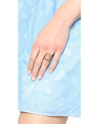 Sunahara - Metallic Statement V Ring - Gold - Lyst