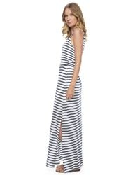 Splendid - Black Venice Stripe Maxi Dress - Lyst