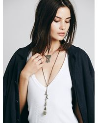 Free People | Metallic Womens Hi Lo Collar Pendant | Lyst