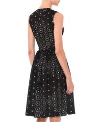 Marco De Vincenzo - Black Sleeveless Laser-cut V-neck Dress - Lyst