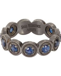 Sara Weinstock - Metallic Sapphire & Oxidized Silver French Lace Ring-Colorless - Lyst