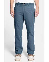 Tailor Vintage | Blue Classic Fit Flat Front Chinos for Men | Lyst
