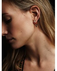 Free People | Metallic Katie Diamond Womens Lana Studs | Lyst