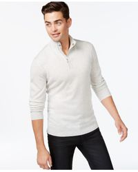 INC International Concepts | Gray Obsidian Merino Blend Quarter-zip Sweater for Men | Lyst
